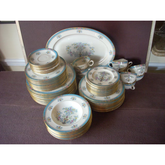 Ceramic Vintge Lenox China Service for 12 Dinnerware For Sale - Image 7 of 7
