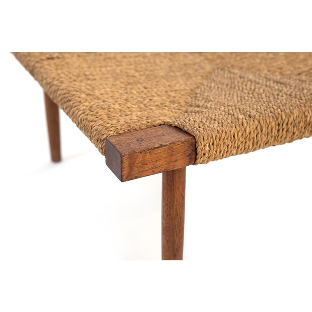 Mid-Century Modern George Nakashima Fitch Stool or Ottoman For Sale - Image 3 of 5