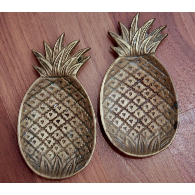 Americana Brass Pineapple Catchalls, a Pair For Sale - Image 3 of 6