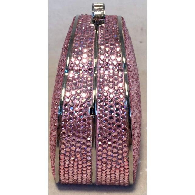 1980s Judith Leiber Pink Swarovski Crystal Minaudiere Evening Bag For Sale - Image 5 of 9