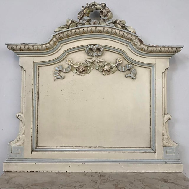 Early 20th Century Pair Antique Italian Louis XVI Painted Nightstands For Sale - Image 5 of 13