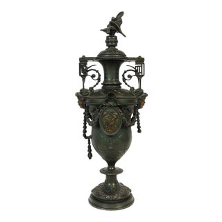 Late 19th-Century Ornate Cherub Urn For Sale
