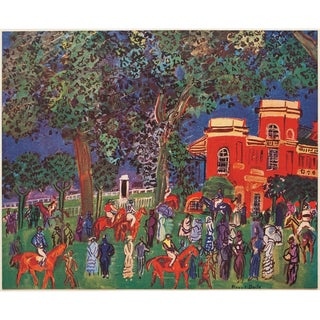 1947 Raoul Dufy Paddock Lithograph For Sale