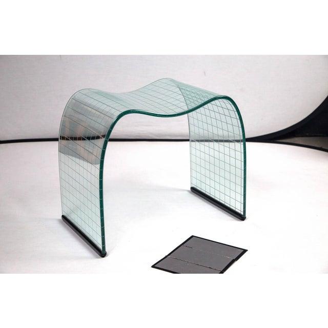 Fiam Italia Vintage Fiam Modernist Crystal Stool For Sale - Image 4 of 4