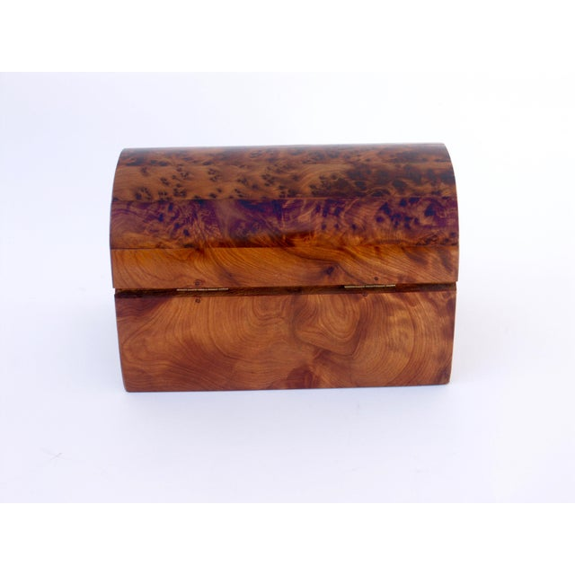 Moroccan Decorative Juniper Burl Wood Box For Sale In San Francisco - Image 6 of 7