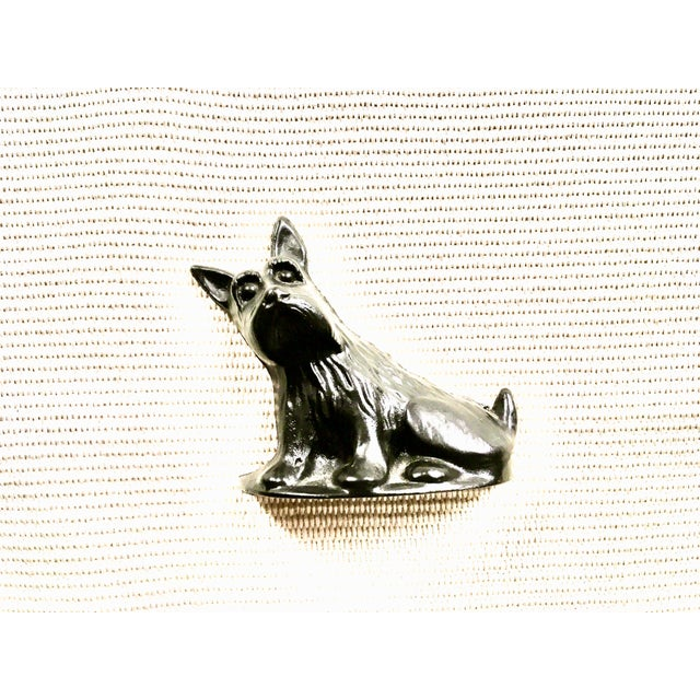 Black Vintage Black Cast Iron Scottish Terrier Doorstop/Bookend For Sale - Image 8 of 8