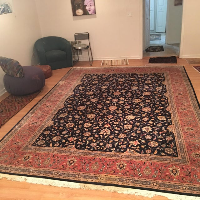 "Vintage Persian Area Rug - 9'x12'7"" - Image 3 of 11"