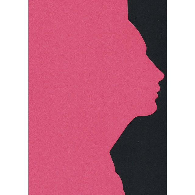 """Profile 4 - Pink"" Minimalist Collage by Sarah Myers For Sale In Kansas City - Image 6 of 8"