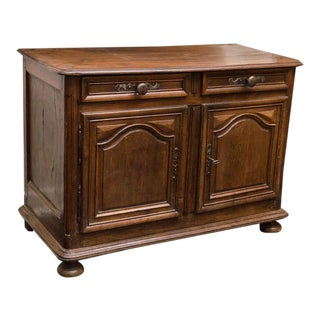 Provincial French Walnut Two-Door Buffet Circa 1780 For Sale