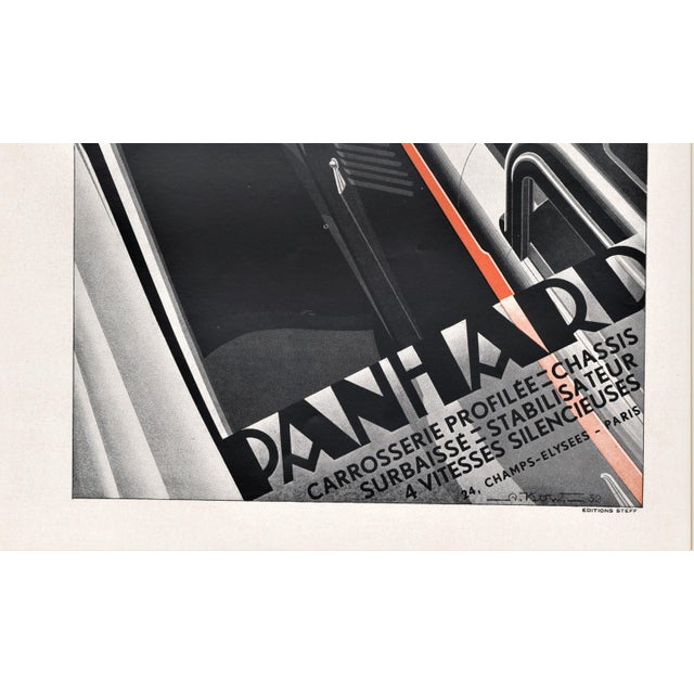 Art Deco Art Deco Automobile Print by Kow For Sale - Image 3 of 4