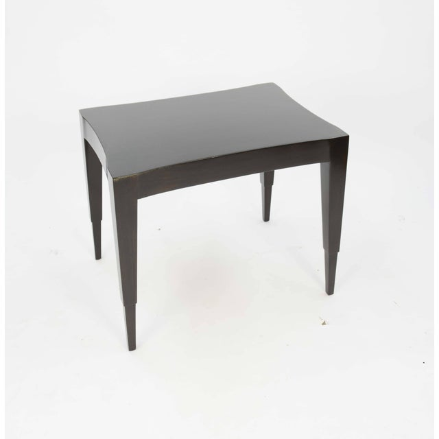 Mid-Century Modern Johan Tapp Dark Walnut Lacquer Lamp Table For Sale - Image 3 of 7