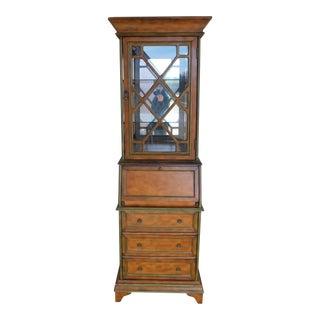 Pulaski Furniture 2pc Secretary Desk Display Cabinet For Sale