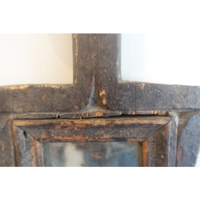 Primitive Wood Mirror For Sale - Image 4 of 13