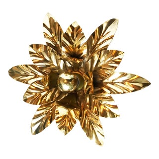 1970s Willy Daro Brass Flush Mount or Sconce For Sale