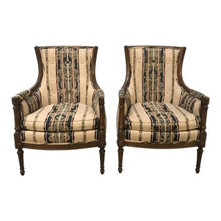 Midcentury Modern French-Style Chairs- A Pair For Sale