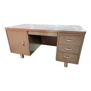 Vintage Mid Century Art Metal Executive Desk For Sale