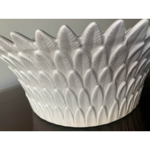 Ceramic Fitz and Floyd Layered Leaf Dish For Sale - Image 7 of 12