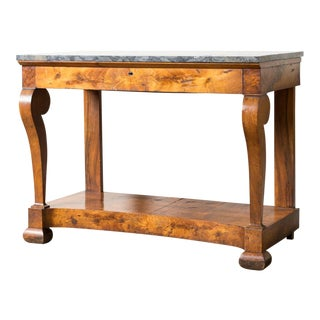 1850s Traditional Black Marble Console For Sale