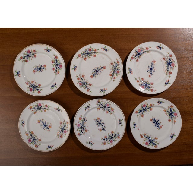 18th Century Staffordshire Soft Paste Floral Plates - Set of 12 For Sale - Image 10 of 13