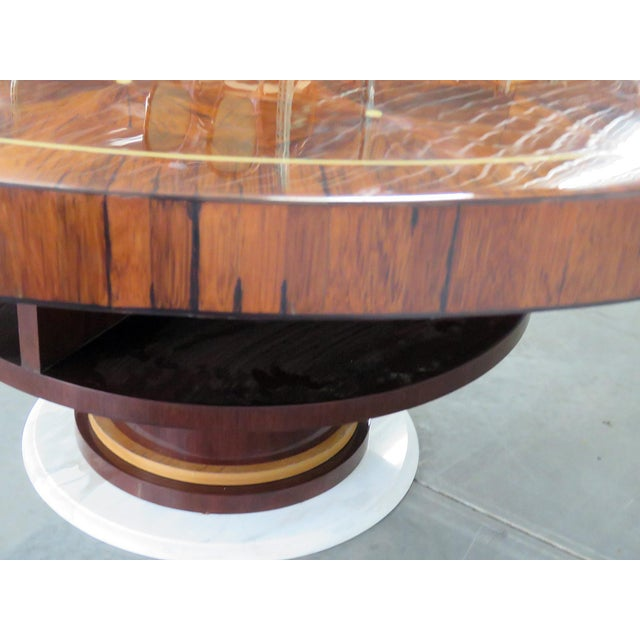 Rosewood Art Deco Inlaid Dining Table For Sale - Image 4 of 7
