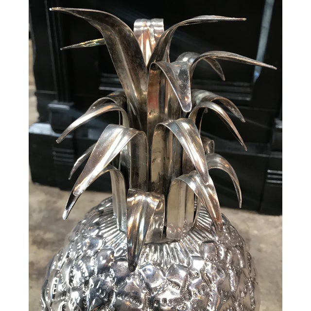 Silver Plated Pineapple Ice Bucket Made in Florence, Italy by Teghini For Sale In Los Angeles - Image 6 of 13