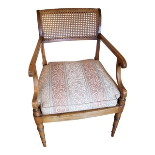 Early 20th Century Regency Style Open Armchair For Sale