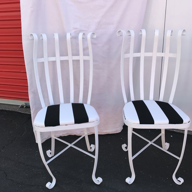 Vintage Metal Outdoor Chairs - Set of 4 - Image 5 of 11