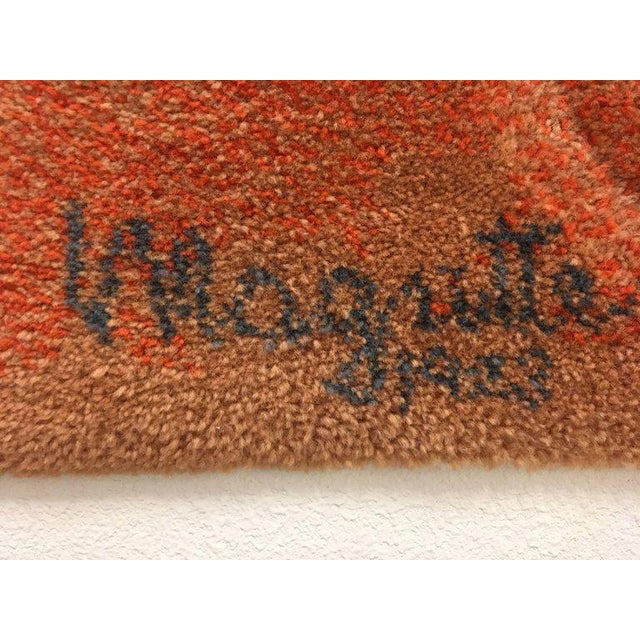 Mid-Century Modern Wool Scandinavian Rug or Tapestry in the Style of René Magritte For Sale - Image 3 of 6