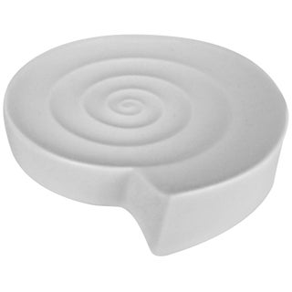 White Modernist Spiral Vide Poche by Nick Munro for Wedgwood For Sale
