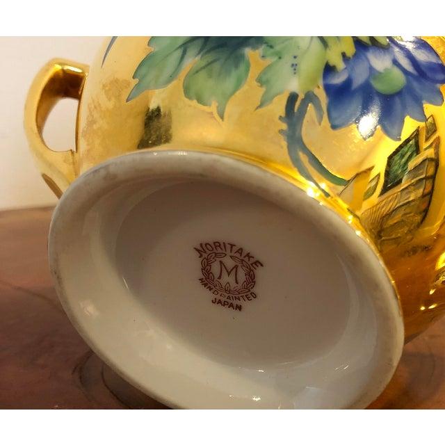 Noritake Final Price! Antique Gold Floral Noritake Sugar Bowl For Sale - Image 4 of 6