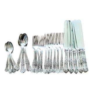 Service for 6 Antique Silverplate Tiffany and Co Flatware For Sale