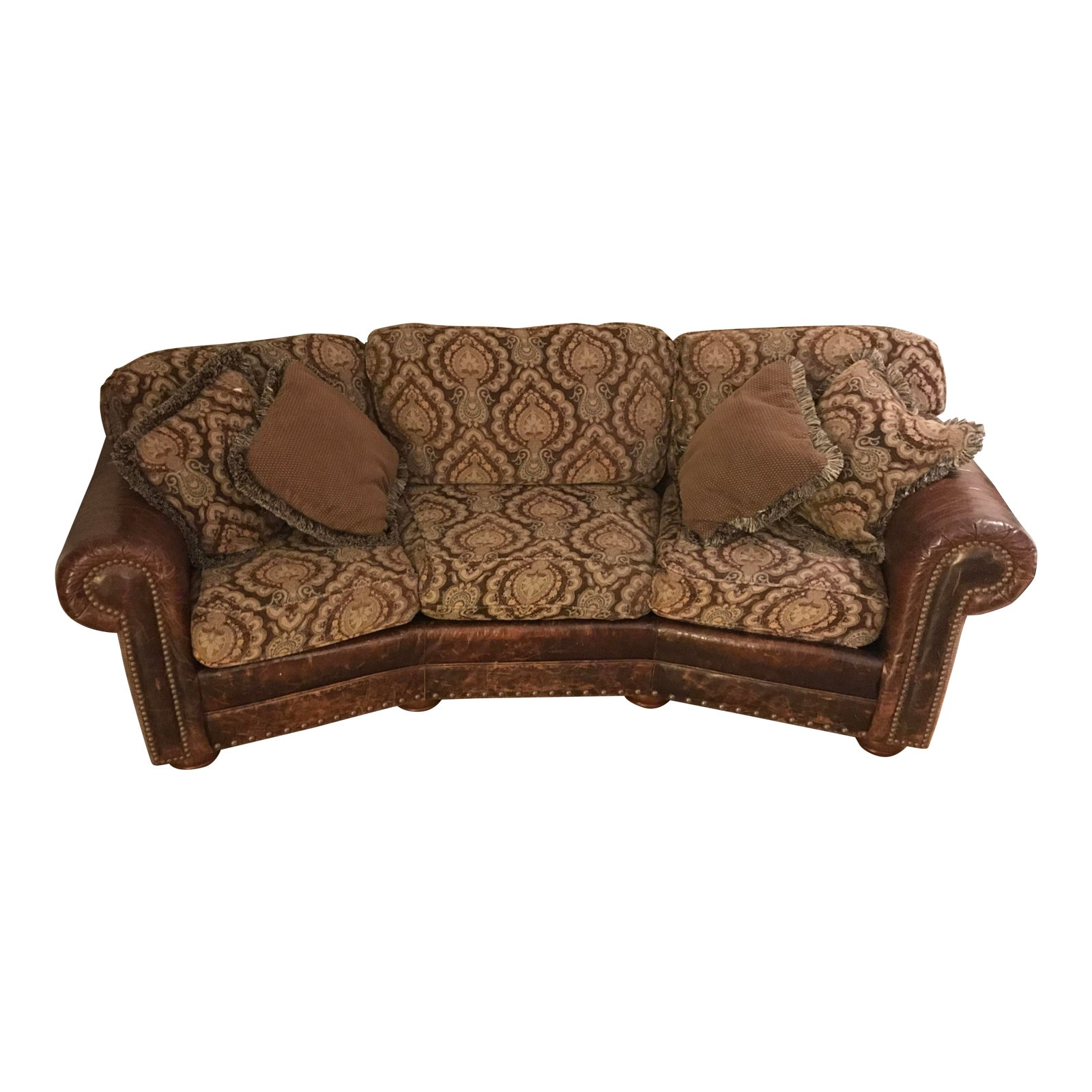 Ricardo Leather Upholstered Conversation Sofa