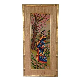 Asian Geisha Needlework Art