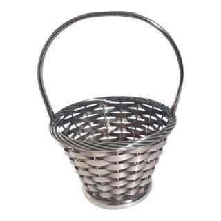 Woven Silver Basket
