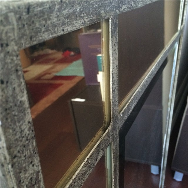 Antique Finish Silver Mirror - Image 9 of 9