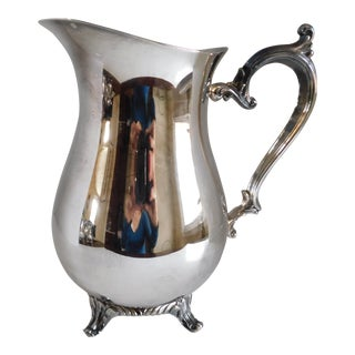 Mid Century Rogers Silver Water Pitcher