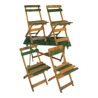 Portable French Country Foldable Dining Set