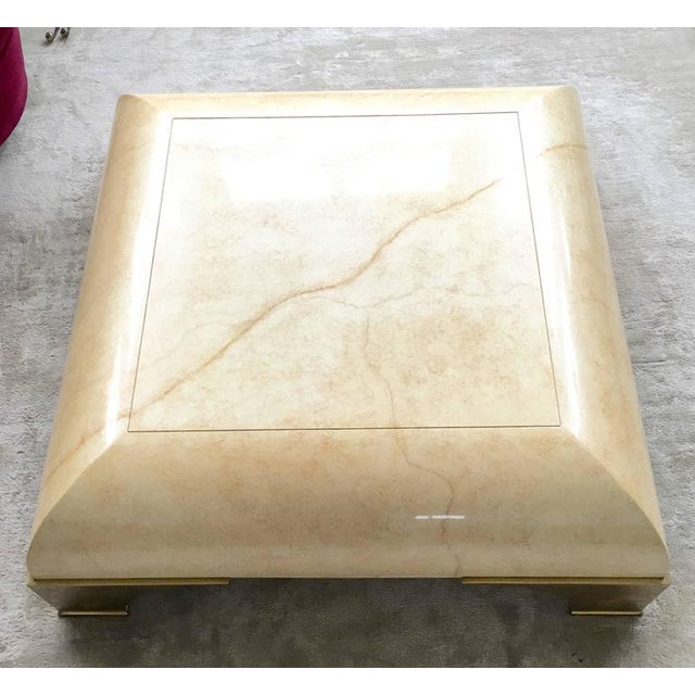 Parchment Finish Cocktail Table - Image 2 of 8