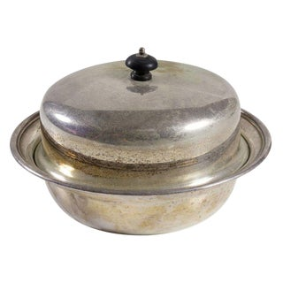 English Antique Silver Dish & Lid