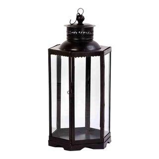 Iron & Glass Lantern Large For Sale