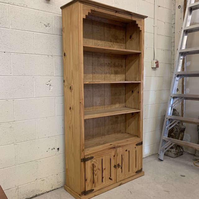 Boho Chic Mexican Unfinished Pine Bookshelf For Sale - Image 3 of 13
