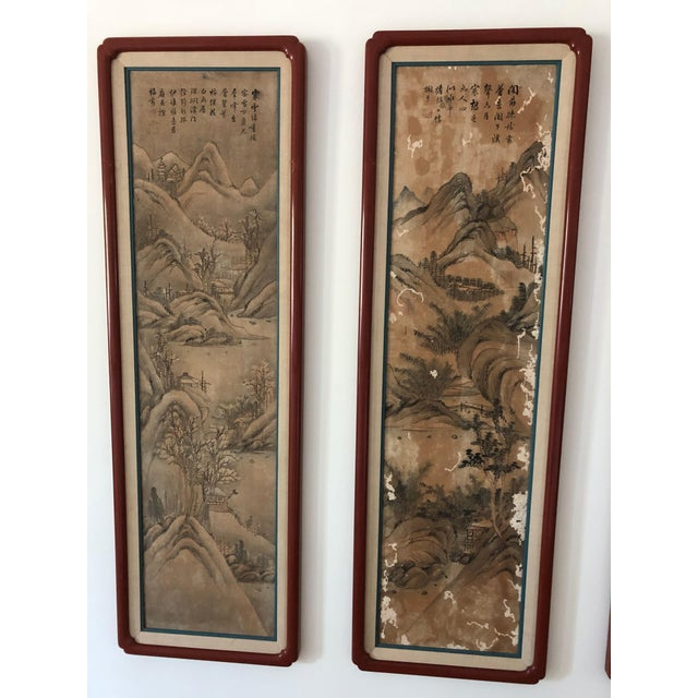 Chinese Hand Painted Silk Panels - Suite of 8 For Sale In Tampa - Image 6 of 8