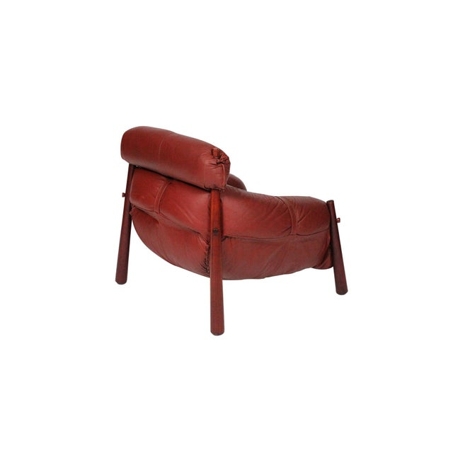 Percival Lafer Brazilian Leather Lounge Chair by Percival Lafer For Sale - Image 4 of 13