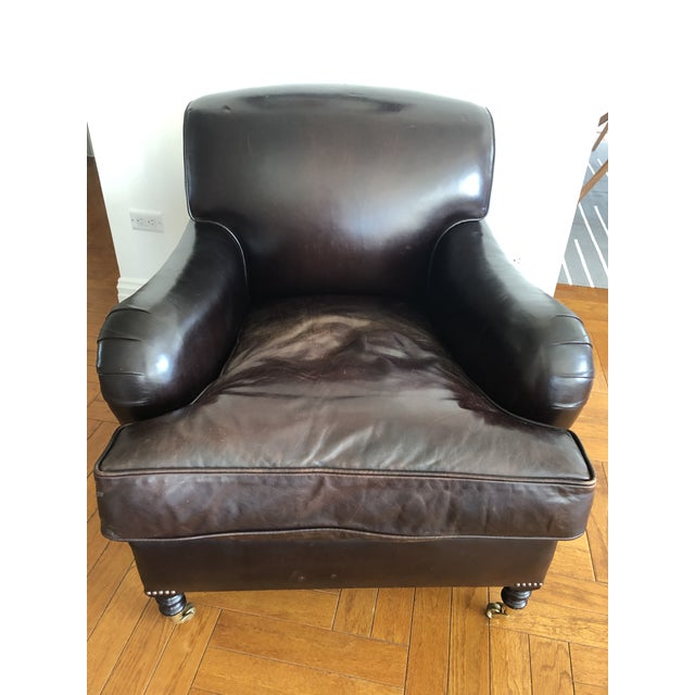George Smith Standard Arm Signature Chair in Leather For Sale - Image 10 of 10
