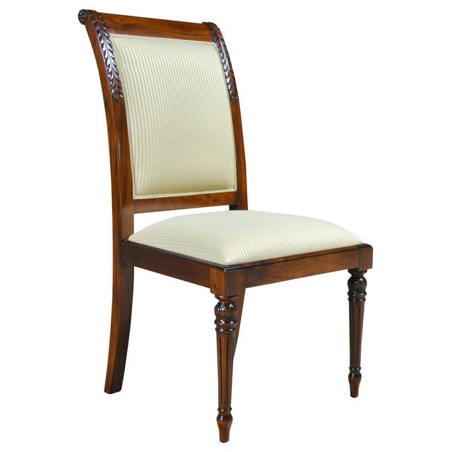 Brown Empire Upholstered Side Chair For Sale - Image 8 of 8