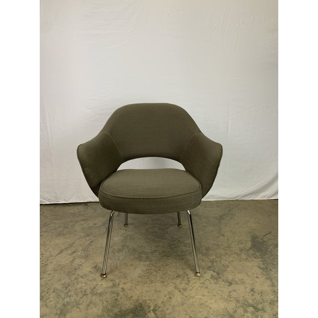 Executive Arm Chair Attributed to Eero Saarinen for Knoll For Sale - Image 11 of 11
