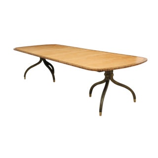Contemporary Double Pedestal Dining Table For Sale