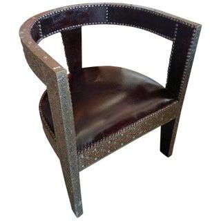 Modern Moroccan Handmade Cedar Wood Chair For Sale