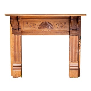 19th Century Antique Eastlake Style Fireplace Mantel For Sale