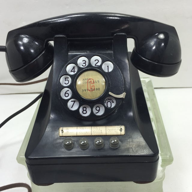 1950 2-Line Telephone WE Model 440EG Black - Image 2 of 8